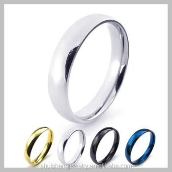 Hot Selling 4mm width stainless steel saudi arabia gold wedding