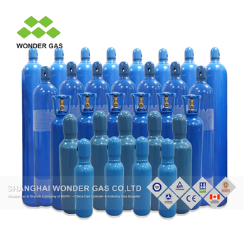 Compact Low Price 37Mn 219Mm-40L-150Bar 48Kg Oxygen Argon Co2 Nitrogen Cylinders