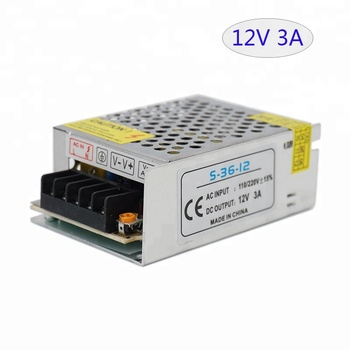 High Quality Switching Power Supply 12V 3A 36W LED Transformer 36W Led Power S-36-12