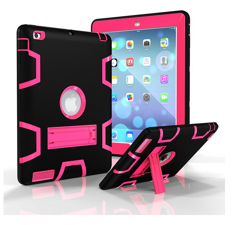 for iPad mini 234 3 in 1 Defender shockproof Heavy duty protective STAND Cover case