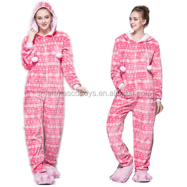 9629e09d67 Pink Snowflakes Wholesale Christmas Onesie Pajamas With Soft Flannel Adult  Pink Snowflakes Wholesale Christmas Pajamas - Buy Wholesale Christmas  Pajamas ...