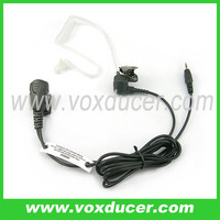 [E-1802-cb]FBI Style Headset Dual Speakers Hidden Invisible Earphone with Push To Talk & Replaceable Connector Cable