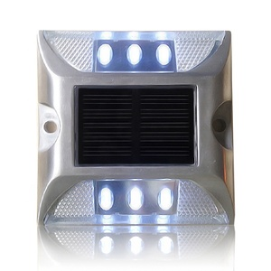 2 Sides Solar Cat Eyes Road Stud, Best Solar Reflective Road Stud Price, Aluminum Solar Powered Cats Eyes