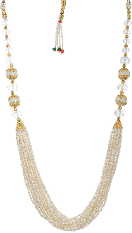 Handicraft Kottage Women's Fashion Jewelry White Metal Necklace (HK-ANWG223)