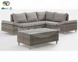 Luxury wicker sofa set garden rattan furniture classic aluminium outdoor sofas