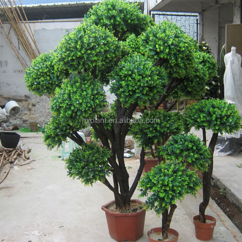 2016 hxplant artificial topiary boxwood spiral artificial for Indoor gardening market size