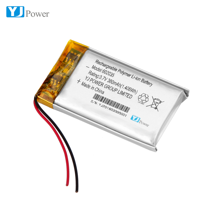 YJ Power 502035 602035 6*20*35mm 3.7v 400mah battery lipo battery for handy massager