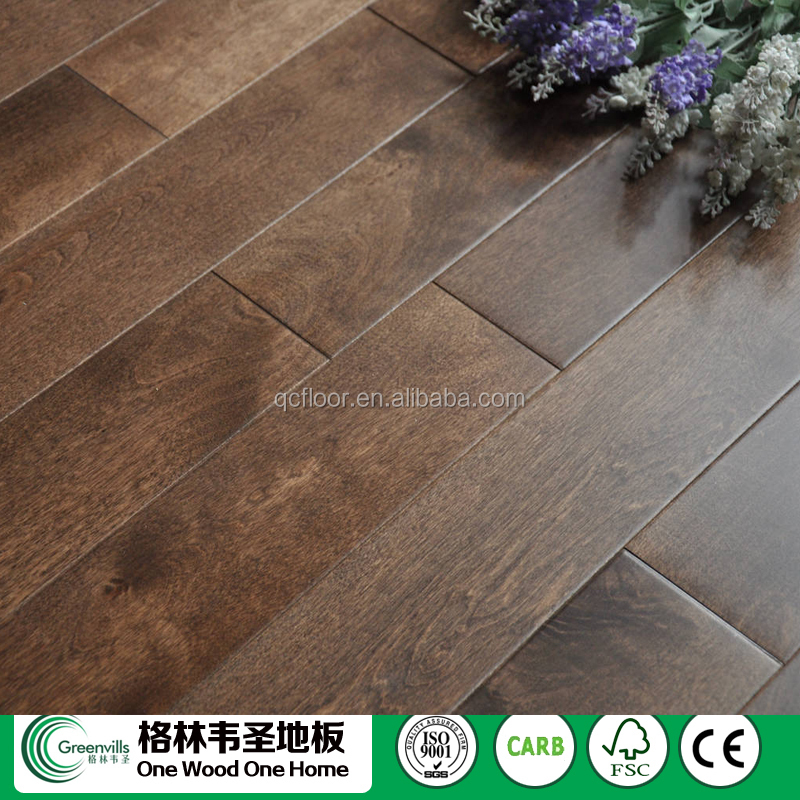 FSC,CE,ISO9001Birch hardwood flooring smooth/brushed parquet