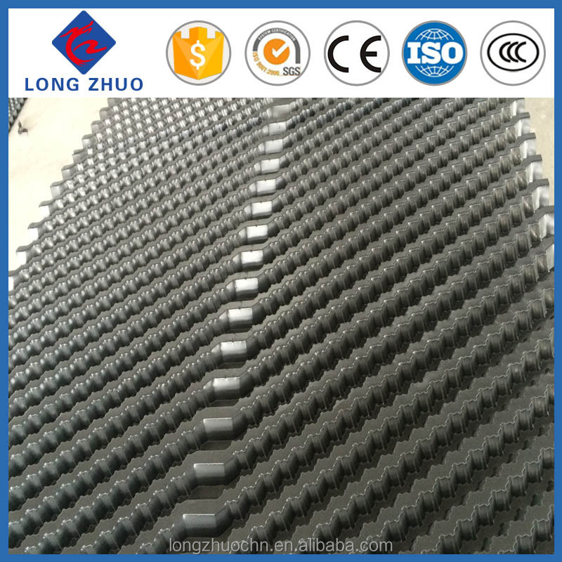 PVC cooling tower infill with 15mm channels, counter flow cooling tower fill packing