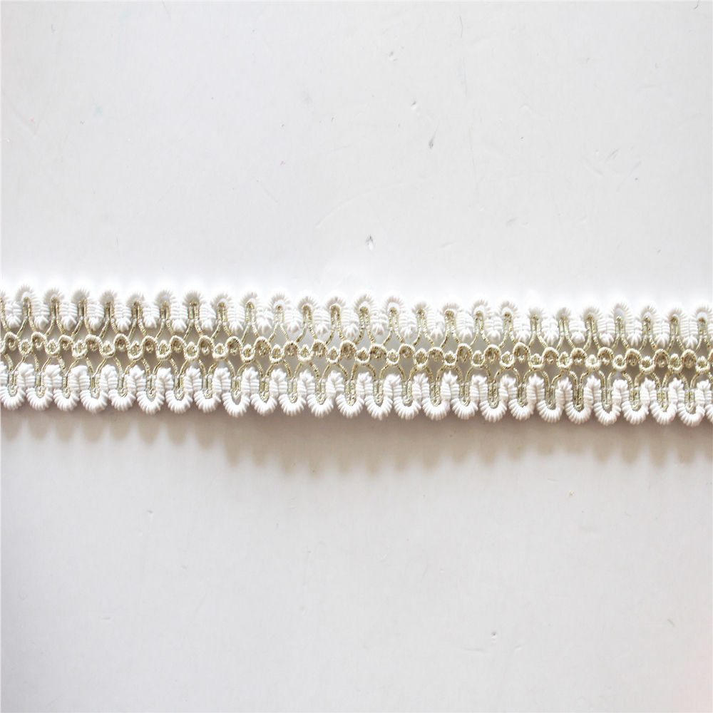 Polyester Lace Trim Scroll Gimp Bridal Trimmings Braid
