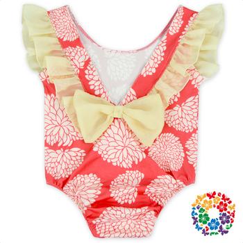 791541186 Flutter Sleeve Little Girl Leotards Low Cut Toddler Leotard ...