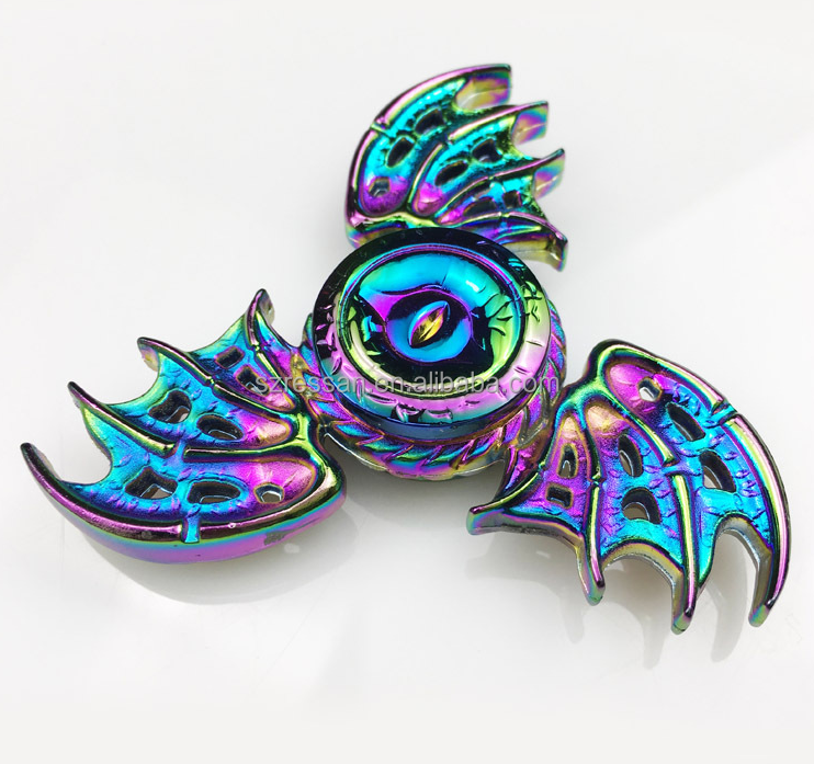 Rainbow Hand Spinner Wing Relieve Stress Fidget Finger Dragon Wings Spinner Metal Spinner