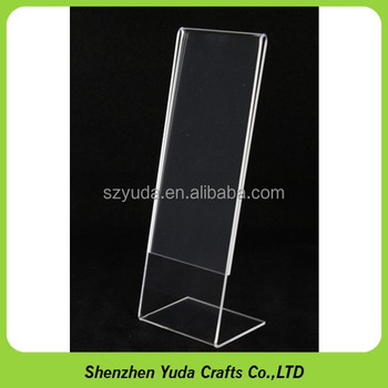L Shaped 2mm Thickness Sign Holder Clear Acrylic 2x6 Photo Frame ...