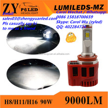 TOP ZY P6 45W 4500lm Phi lips h4 led manufacturers h11 projector headlight h15 led canbus pk r4 led h7 cr ee