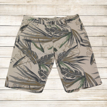 Summer 100%cotton twill allover print men's shorts