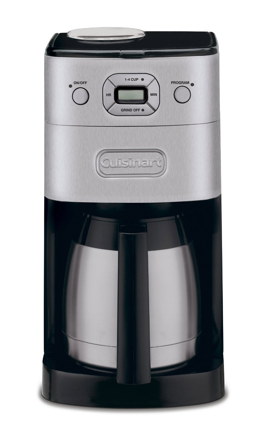 Cuisinart DGB-650BCFR 10 Cup Grind-and-Brew Thermal Automatic Coffeemaker in Brushed Metal (Certified Refurbished), Silver