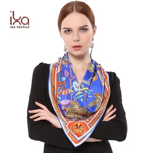 Most Beautiful Custom Silk Screen Big Square Real Silk Hijab Scarf