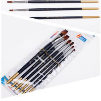 6pcs/set Bona high qualityu new style plastic handle paint brush with art paint brush set