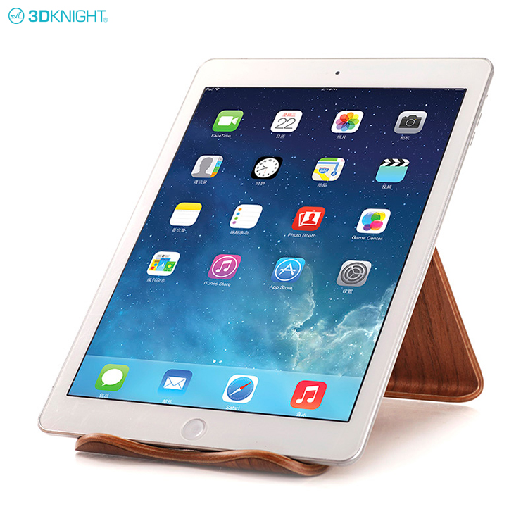 Unique Design Natural Wooden Counter Mobile Phone Holder Tablet PC Desktop Stand