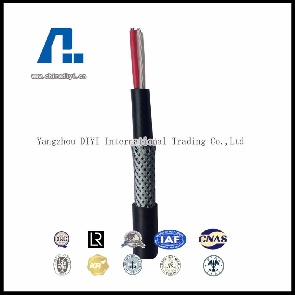 CJV92 XLPE insulated PVC inner sheathed galvanized steel wirebraided PVC outed sheathed flamed-retardant shipboard power cable