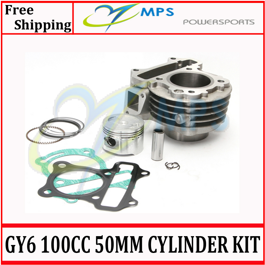 GY6 100cc 50mm cylinder kit (cylinder+piston and ring kit+cylinder