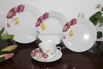 TH4148 Pink Flower Dinnerware Ceramic Round Dinner Set antique chinese porcelain plate Sets & Th4148 Pink Flower Dinnerware Ceramic Round Dinner Set Antique ...