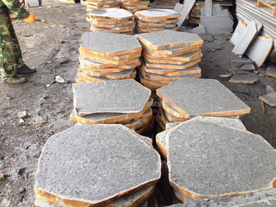 Basalt Stones Product : China natural black basalt stepping stone for outdoor