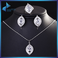 KI0008 Zircon Necklace Set Jewelry