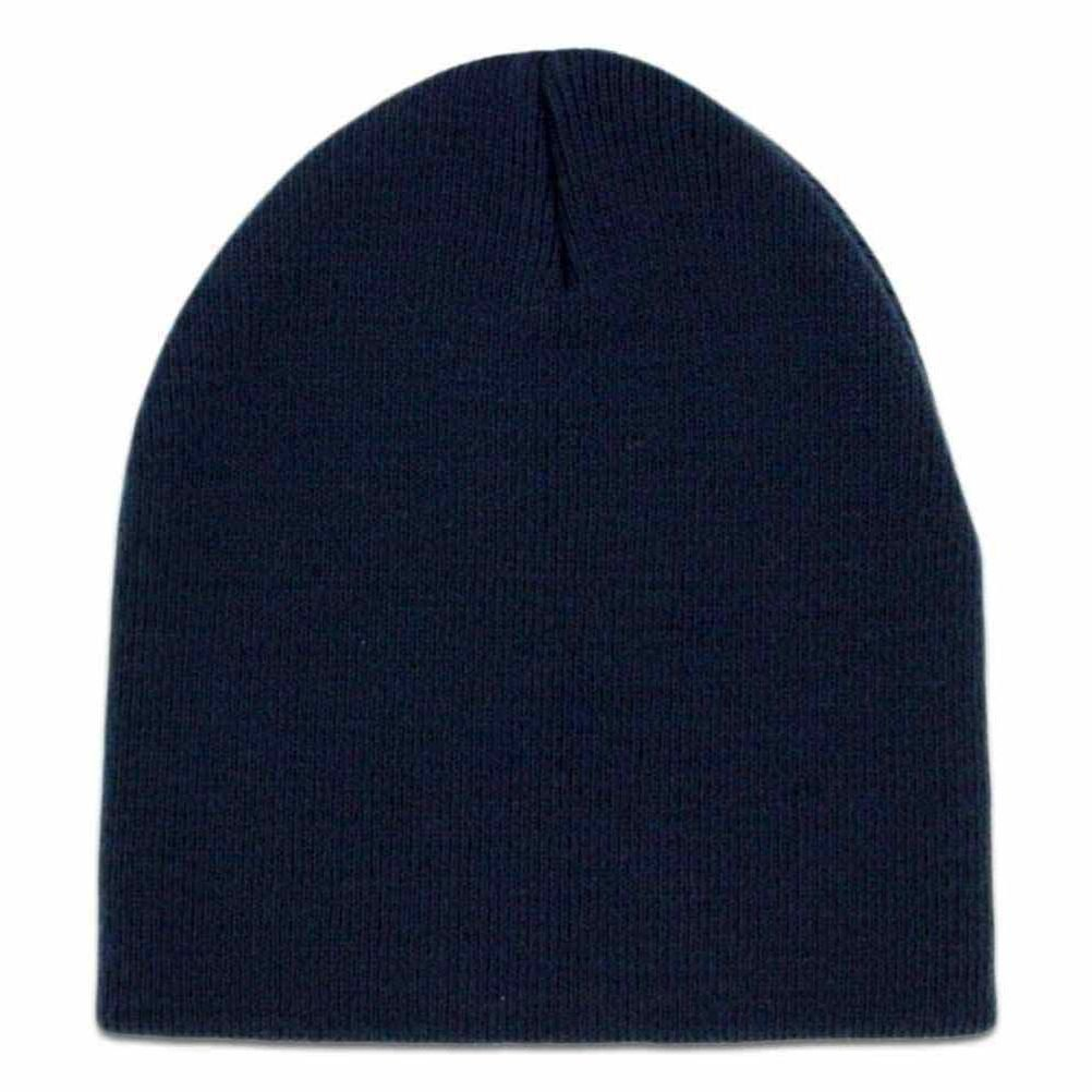 Get Quotations · Solid Navy Blue Smooth Textured Beanie Knit Stocking Cap  Skully Winter Hat e5b04616b2f8