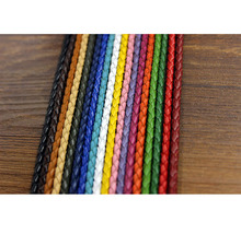 diy accessories braided leather cord bracelet necklace materials wholesale