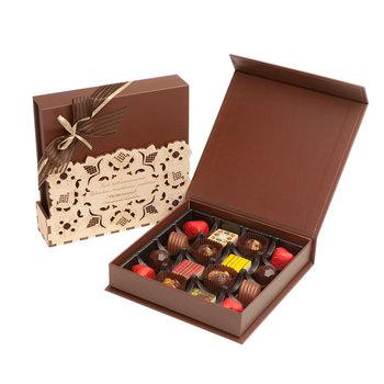 Custom Christmas Dark Choc Packaging Chocolate Gift Box