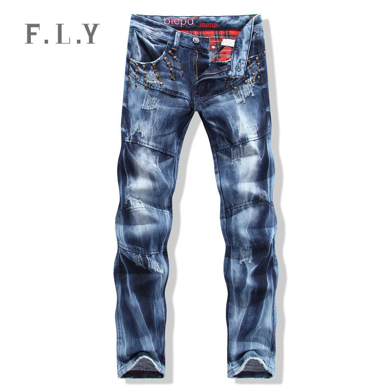1442751497 Get Quotations · Fashion men jeans high quality new hip hop skull skate hip  hop pantalones vaqueros hombre marce