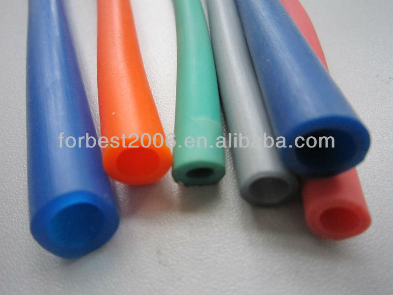 amber color latex rubber tubing for medical applications
