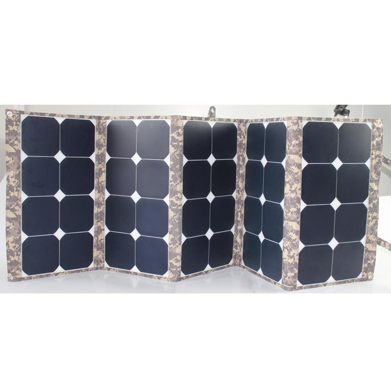 2017 Hot selling 130W portable pv solar panel for outdoor activity with laptop