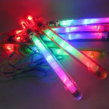Customized colorful LED Fairy floss stick for cotton candy Light-Up Foam Sticks led glow sticks kids toy party favour