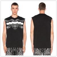 Custom Print Men's t-shirt Sleeveless Sports Clothing Men's t shirts