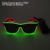 Hottest Design Twin Colors EL Cold Light Illuminate Sunglasses Birthday Wedding Decor Led Bulbs Neon Light Glasses by 3V