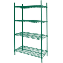 Competitive price Green epoxy wire shelving French wire shelves Freezer wire shelf rack