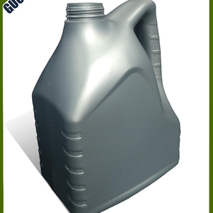 4 Liter Silver Gray HDPE Plastic Car Lubricating oil Container Bottle Wholesale