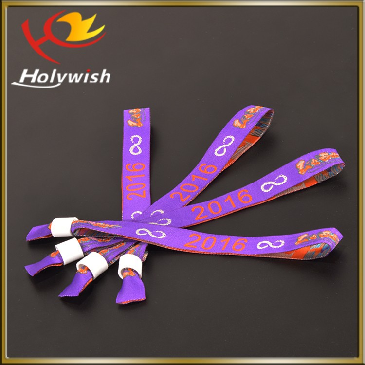 Polyester Custom Eco Friendly Ornamental Embroidered Fabric Bracelets