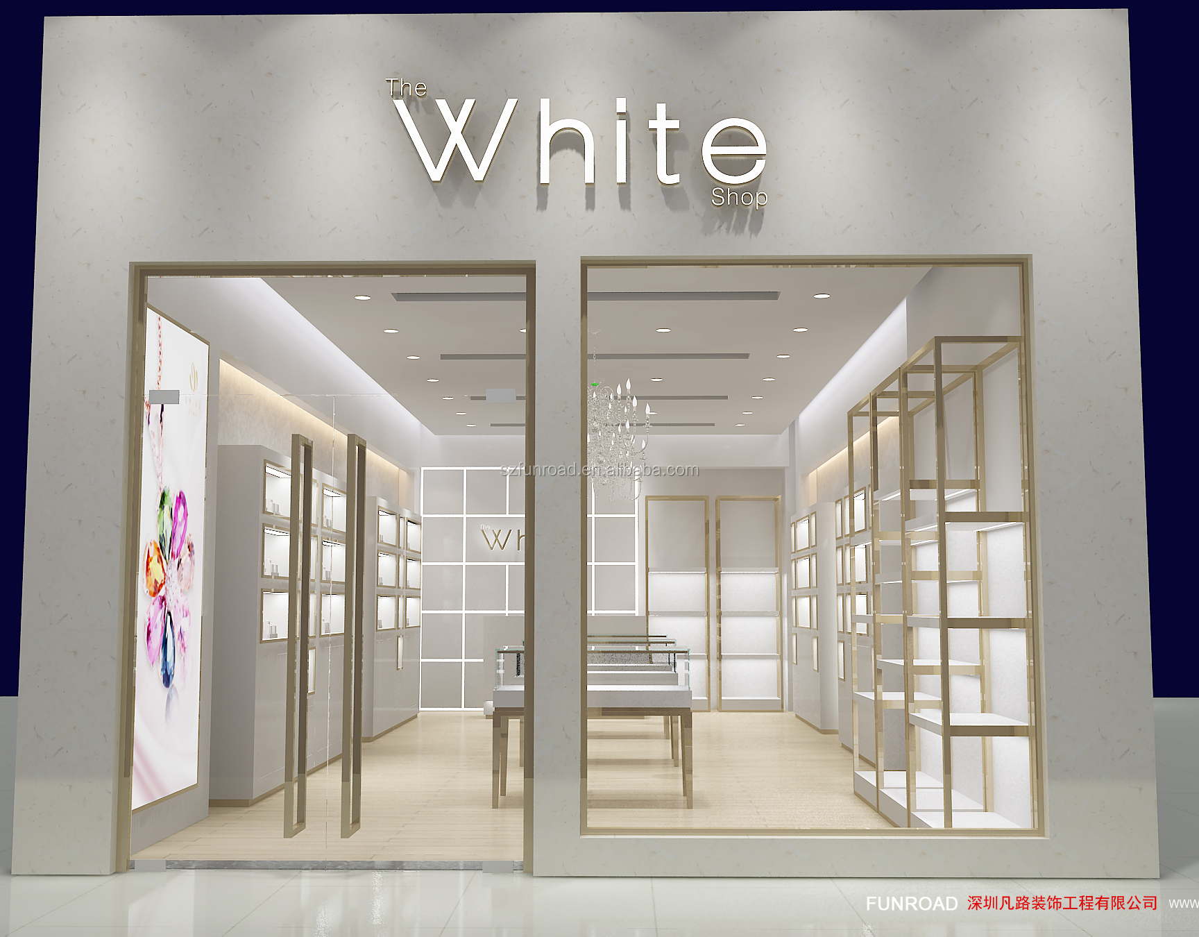 New Style High End Jewelry Display Cabinet Jewelry Shop Counter Design For Store Decoration