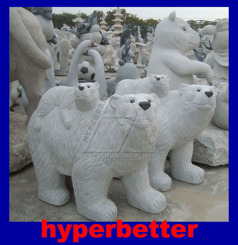Perfect white marble horse statues