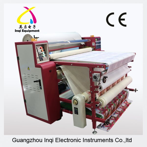 1900mm large format roll cloth fabric drum heating press