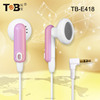 Best selling products earphone factory funky high quality oem earphones plastic earbud headphones
