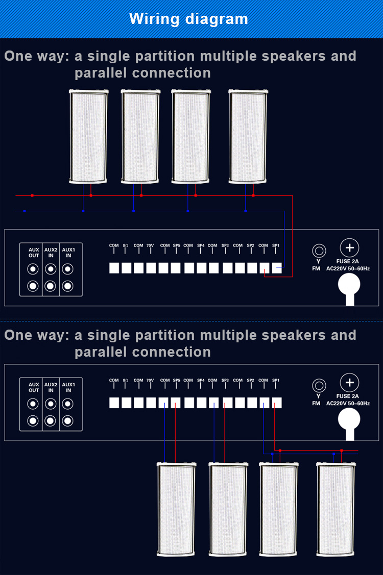 Oupushi Dsd 5060 Pa System 60w Waterproof Column Speaker For Outdoor Diagram Public Address In Speakers From Consumer Electronics On