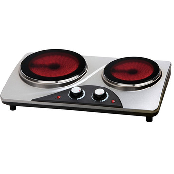 Best selling 2 burner electric cooktop with glass top