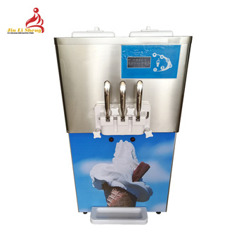 High Capacity Pump Feed Hopper Agitator Stainless Steel Beater Counter Table Top Frozen Yogurt Soft Serve Ice Cream Machine