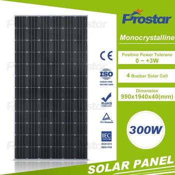 A Grade Prostar Price Solar Panel 300w Monocrystalline 300