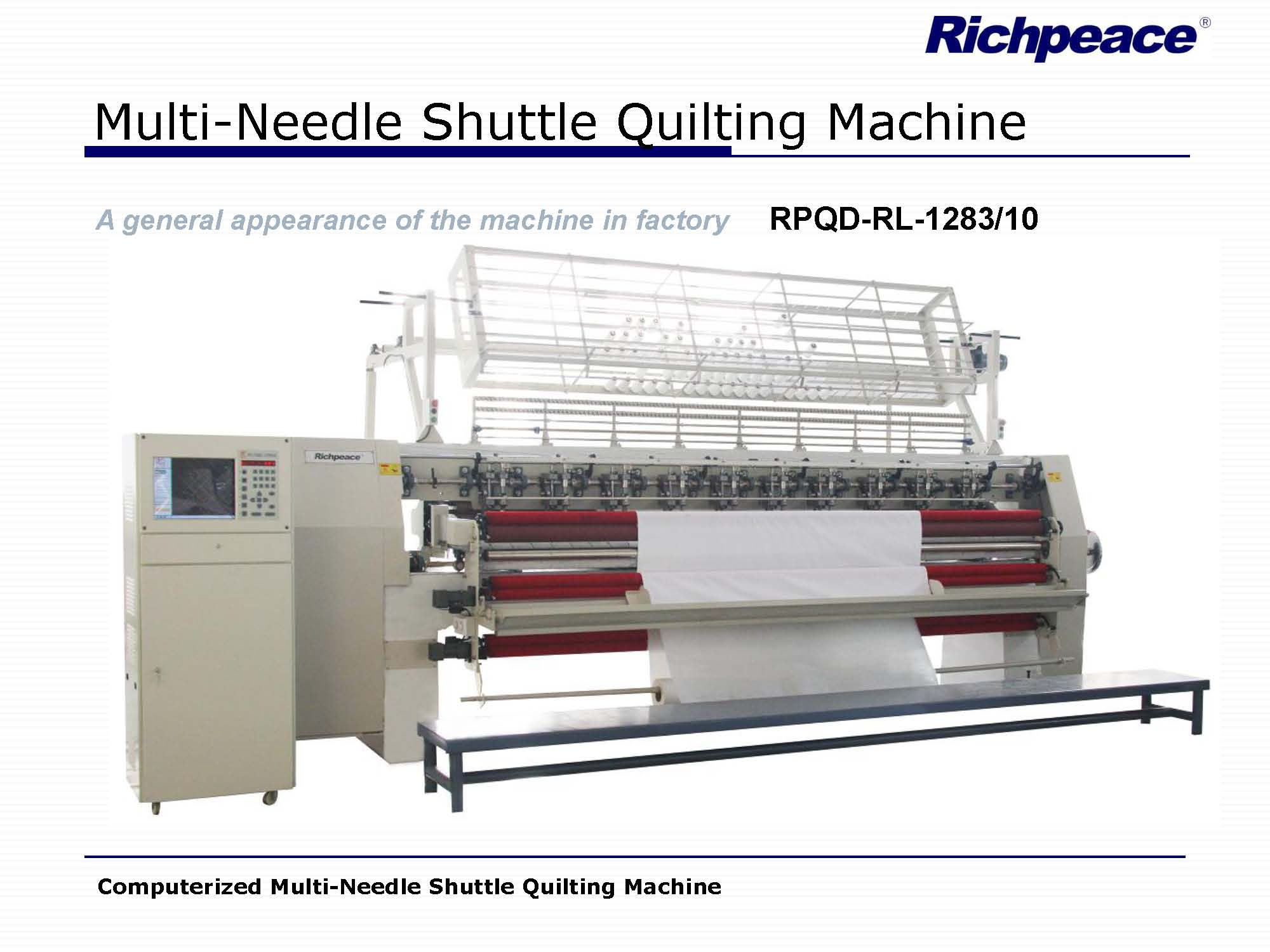 Computer Control Multi Needle Shuttle Lock stitch Quilt Quilting Machine