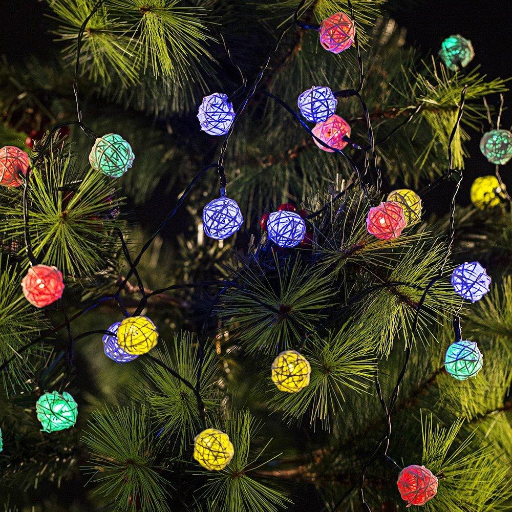 led solar christmas ball light led solar christmas ball light suppliers and manufacturers at alibabacom - Solar Christmas Tree Lights